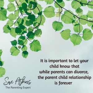 While parents divorce, the parent- child relationship is forever