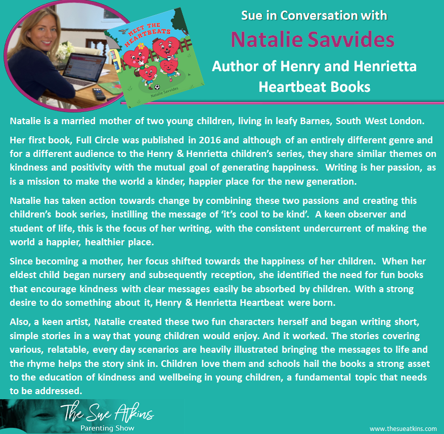 Info page for Natalie Savvides Author of Heartbeat Books